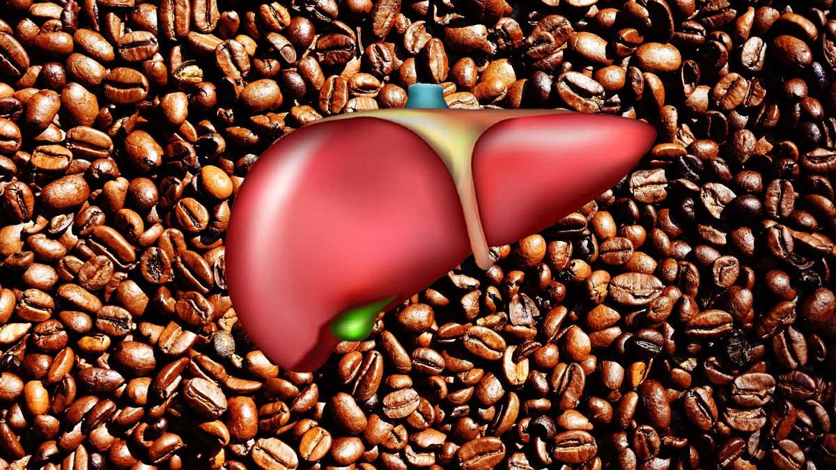 зерна кофе и печень