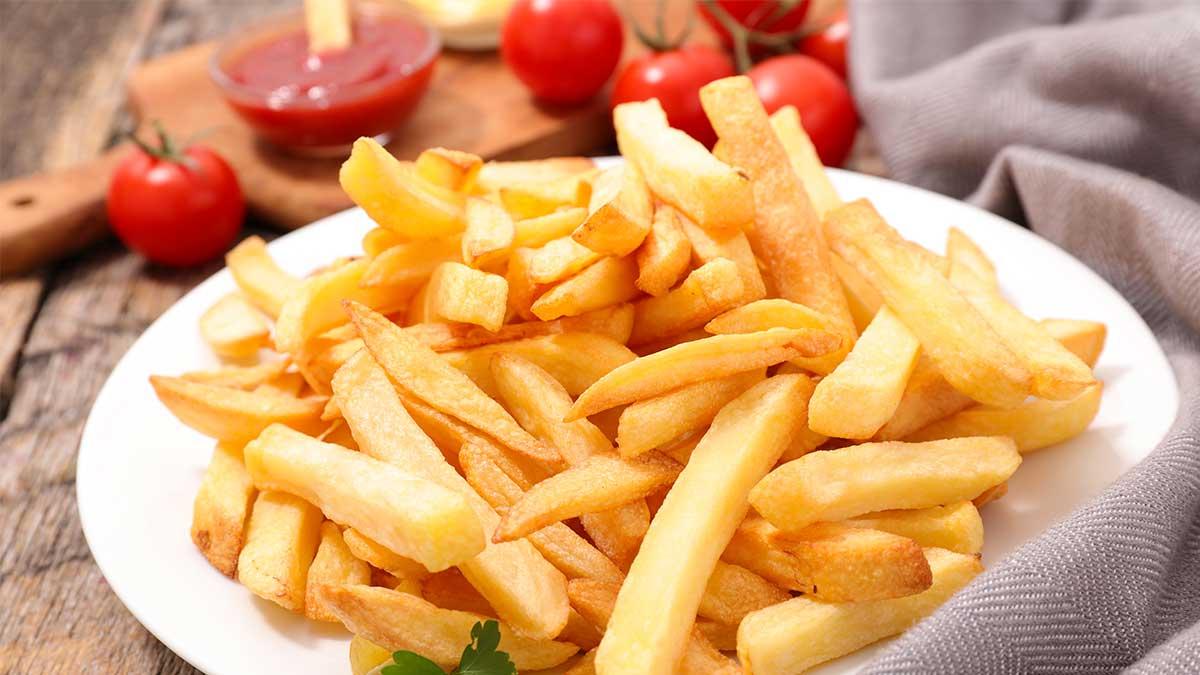 жареная картошка помидор кетчуп
