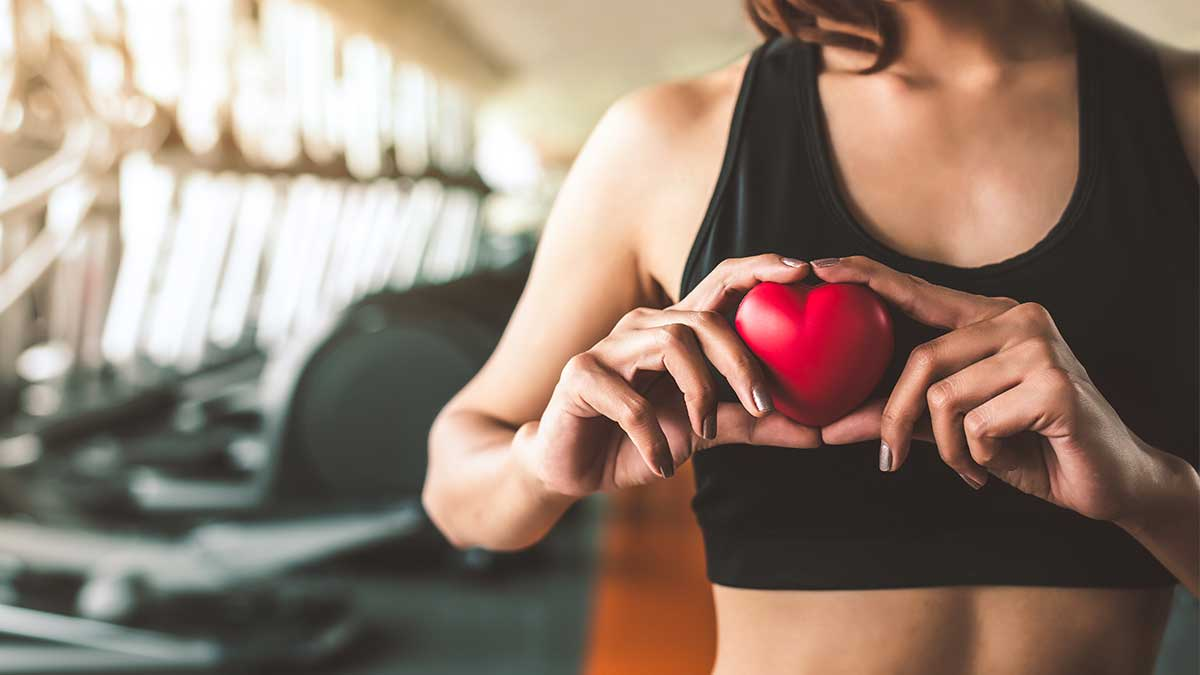 женщина спорт сердце зал руки