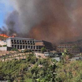 Из-за лесных пожаров в турецком Бодруме эвакуировали постояльцев отелей