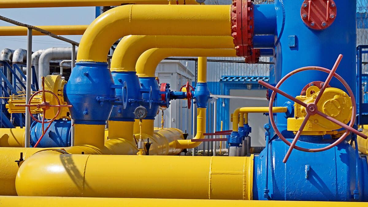 Трубы газопровода.