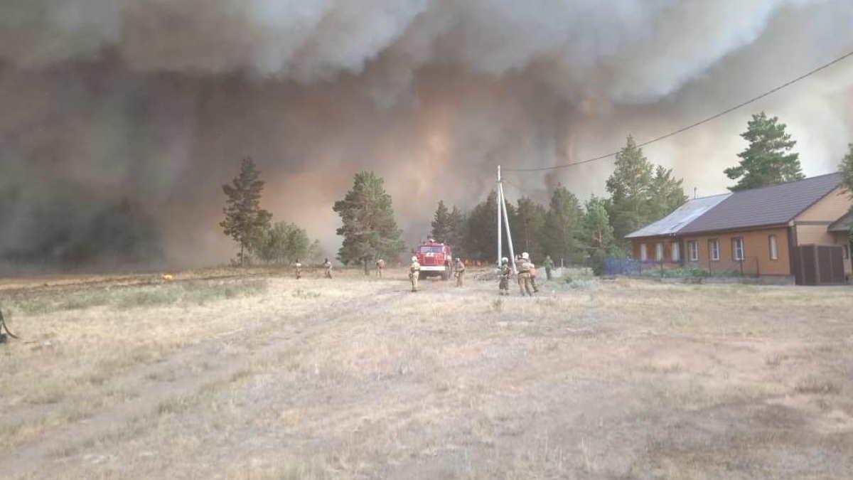 Пожар пожарные частный дом
