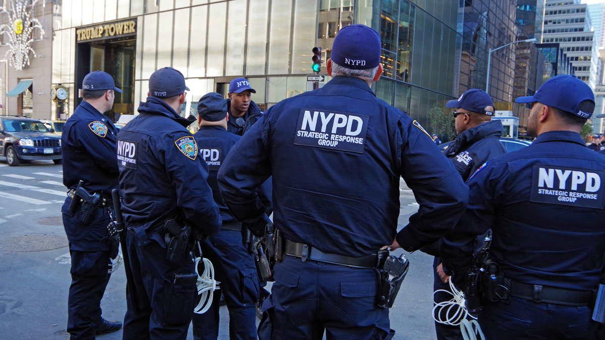 США Нью-Йорк полиция