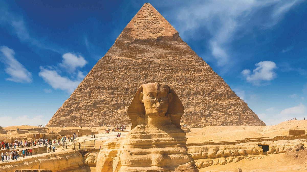Египет Сфинкс пирамида