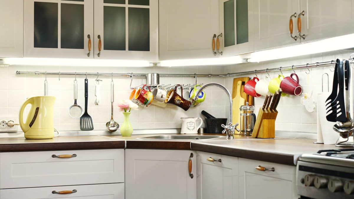 Кухня рейлинг крючки