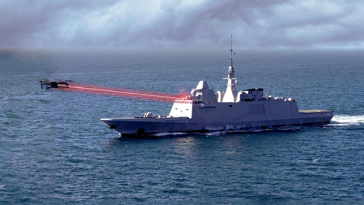 фрегат FREMM система лазерного оружия HELMA-P