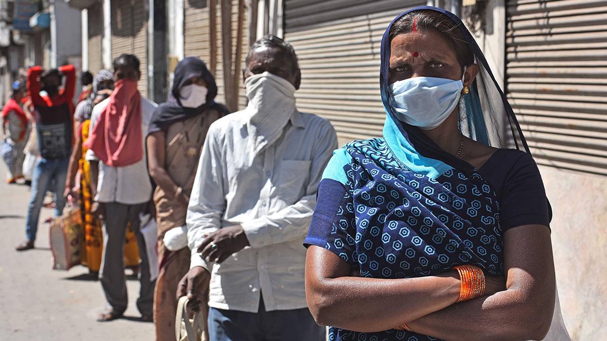 Индия люди коронавирус