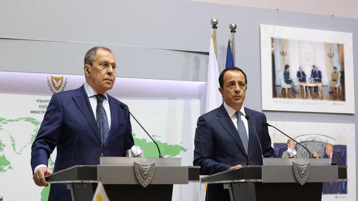 Сергей Лавров и Никос Христодулидис