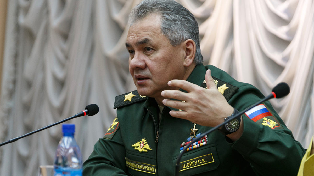 Министр обороны РФ генерал армии Сергей Шойгу