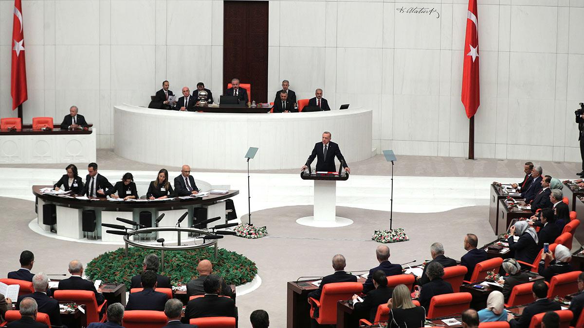 Заседание турецкого парламента в Анкаре
