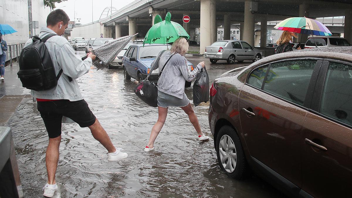 затопленная улица в Адлере