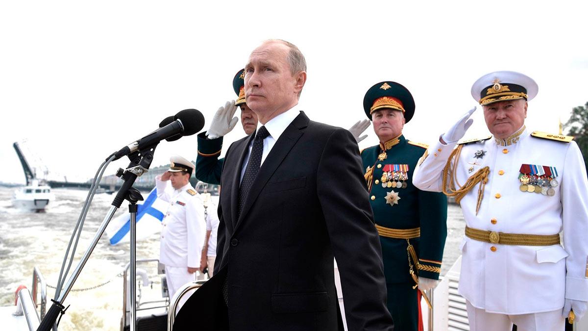 Владимир Путин микрофон корабль