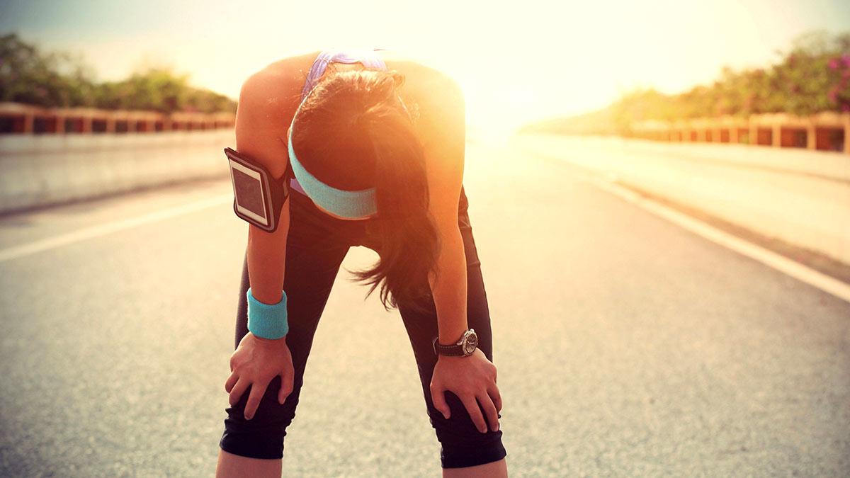 бег жара усталость