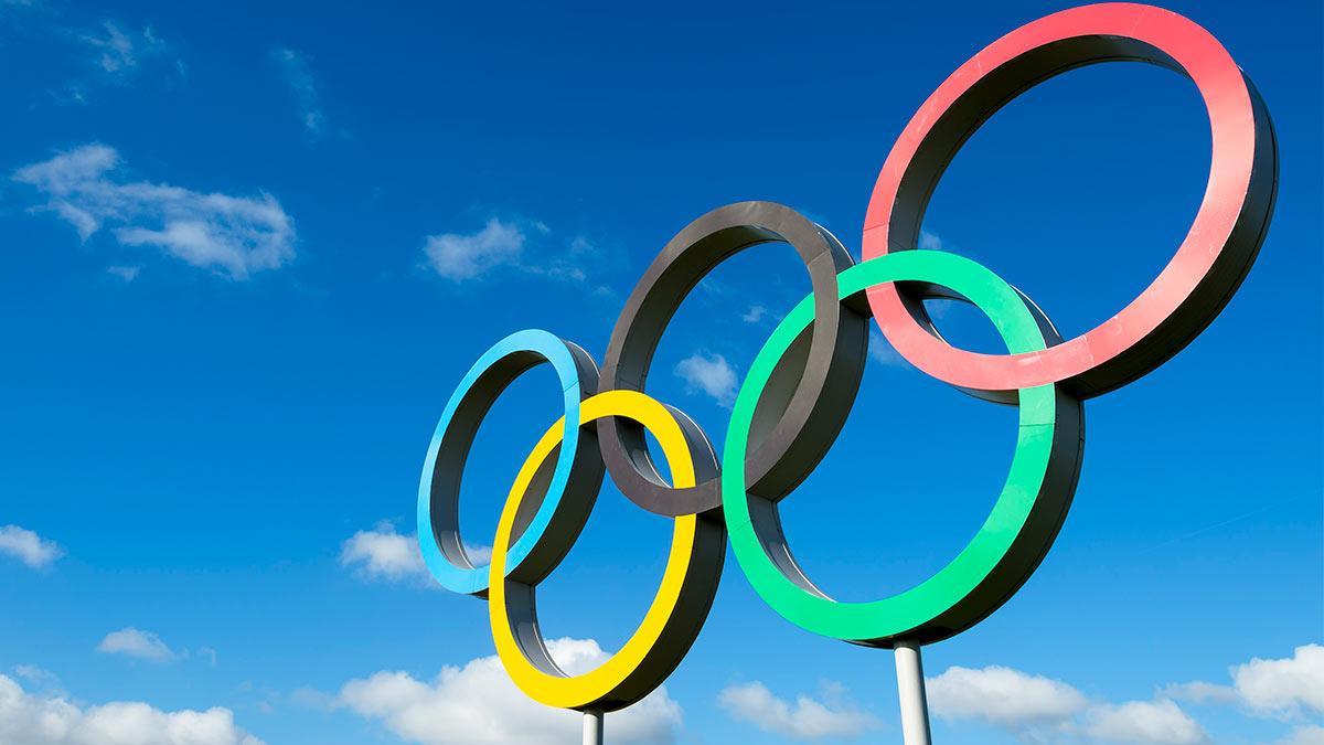 кольца олимпиада небо