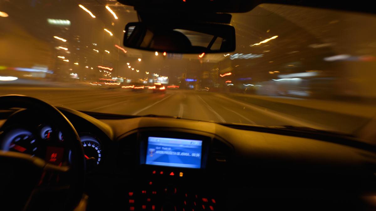 ночь дорога автомобиль