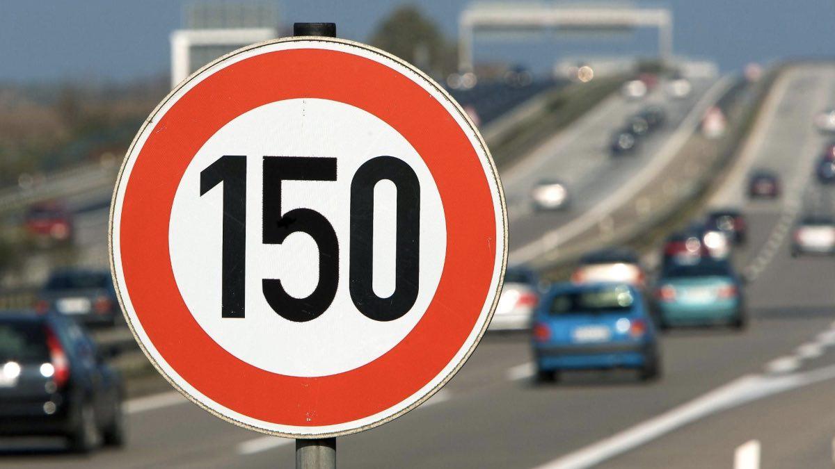 ограничение скорости 150 км ч