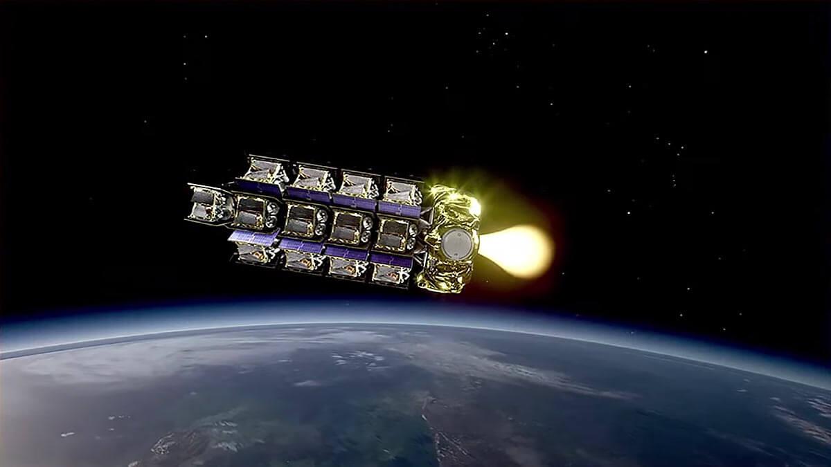 Британские спутники связи OneWeb на орбите