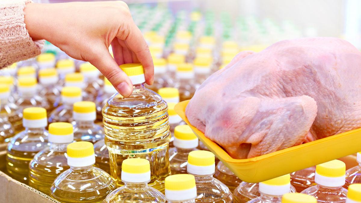 подсолнечное масло и курица