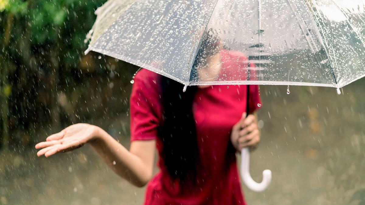 погода зонтик рука