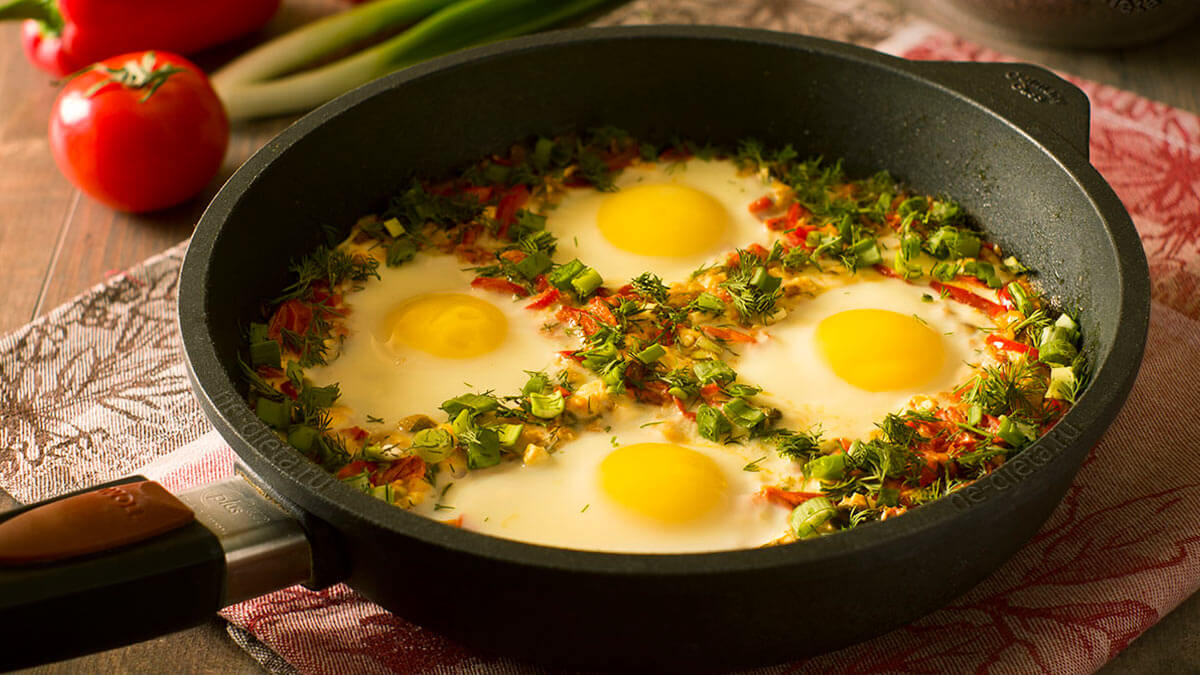 яичница четыре яйца