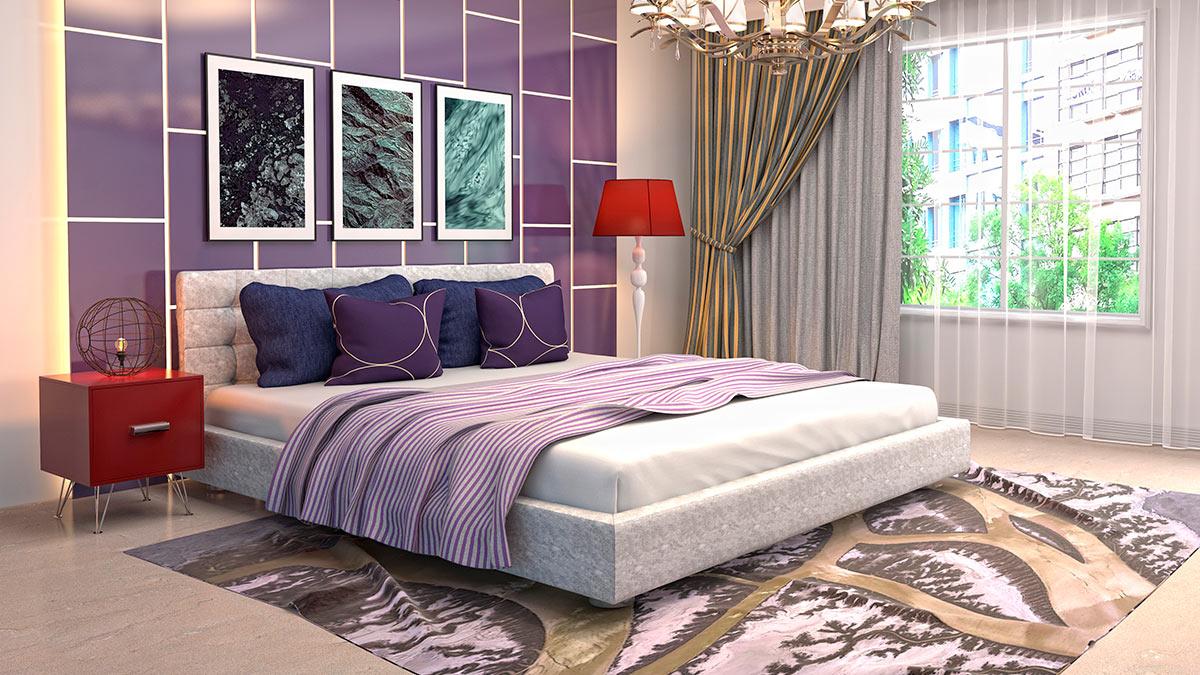 яркая красочная спальня
