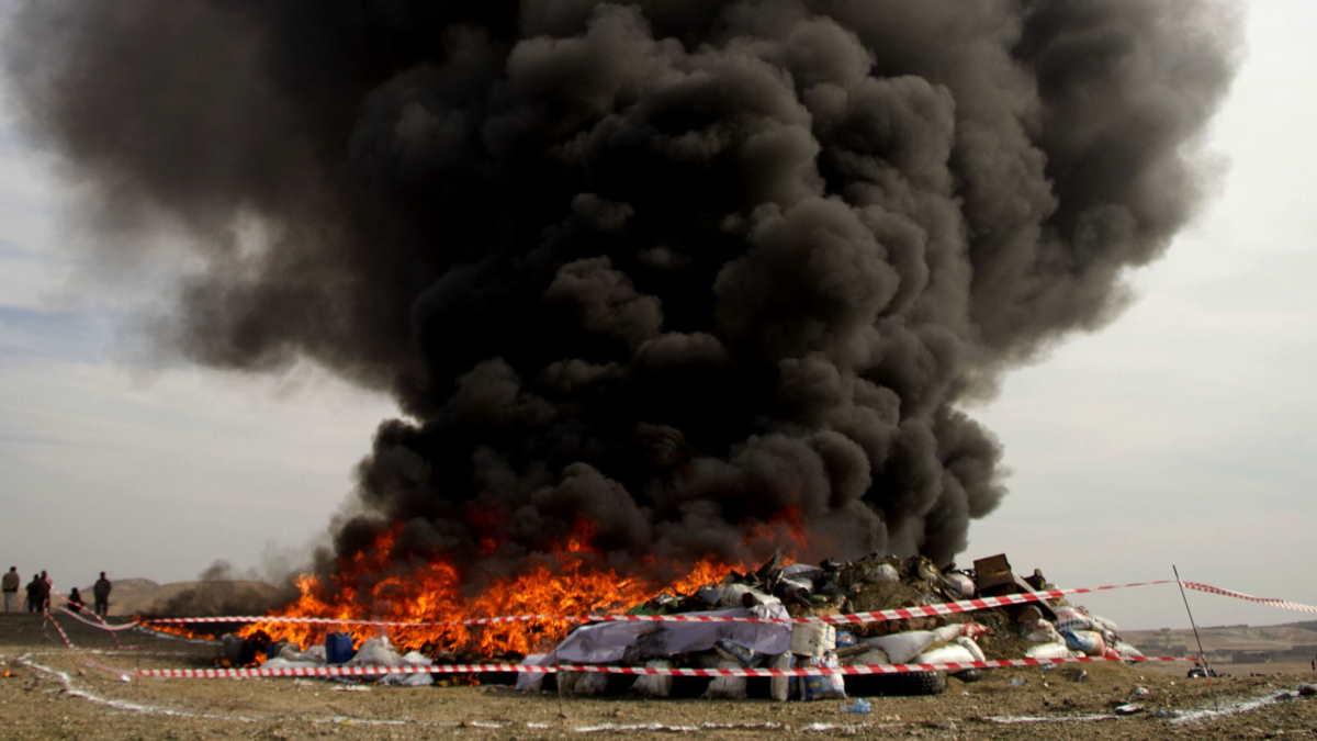 Афганистан уничтожение наркотиков