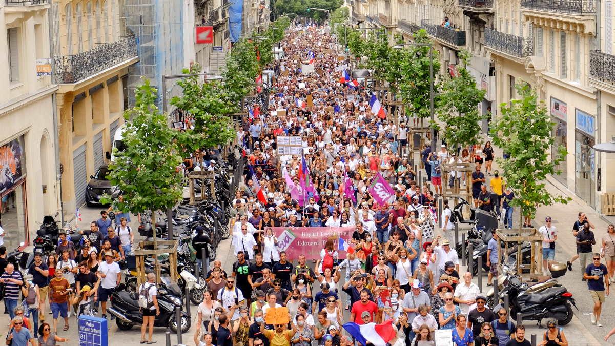 Франция протесты