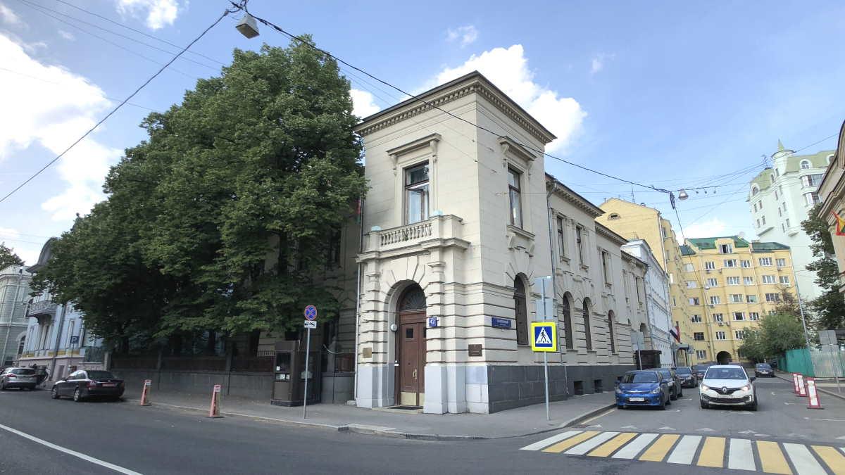 Здание посольства Афганистана в Москве