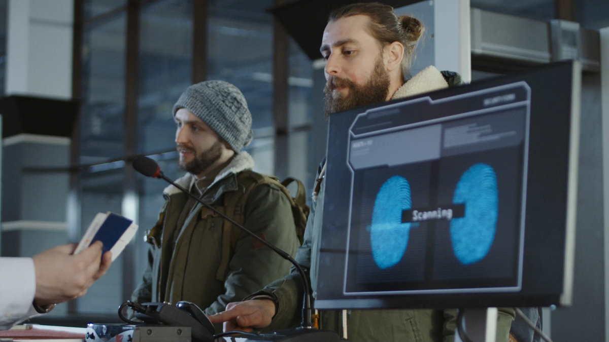 аэропорт биометрические данные