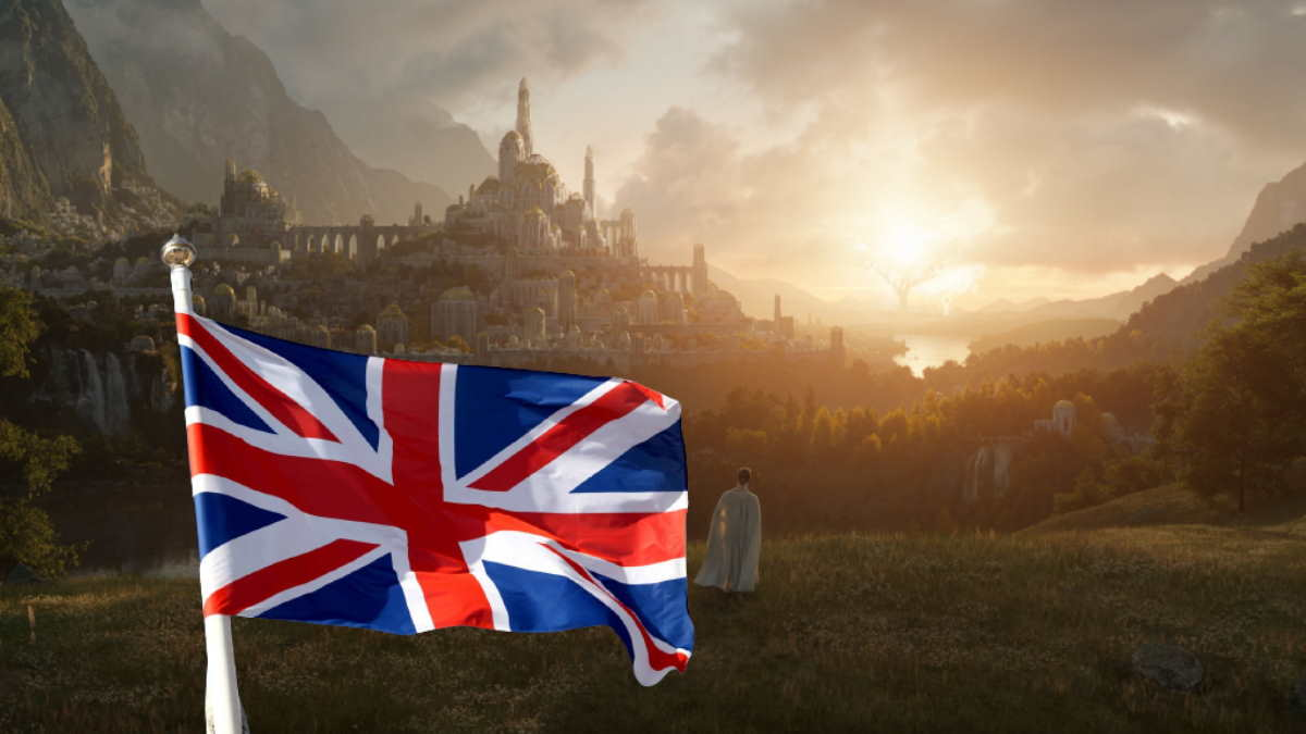сериал Властелин колец флаг Великобритании