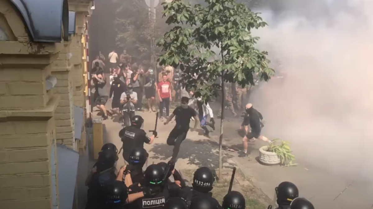 протесты у офиса Зеленского