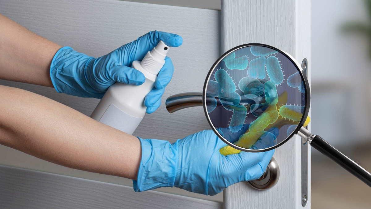 дверная ручка бактерии
