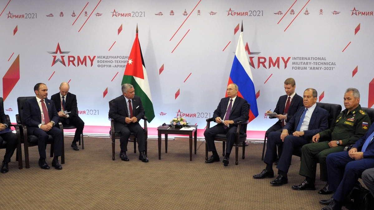 Король Иордании Абдалла II и Владимир Путин