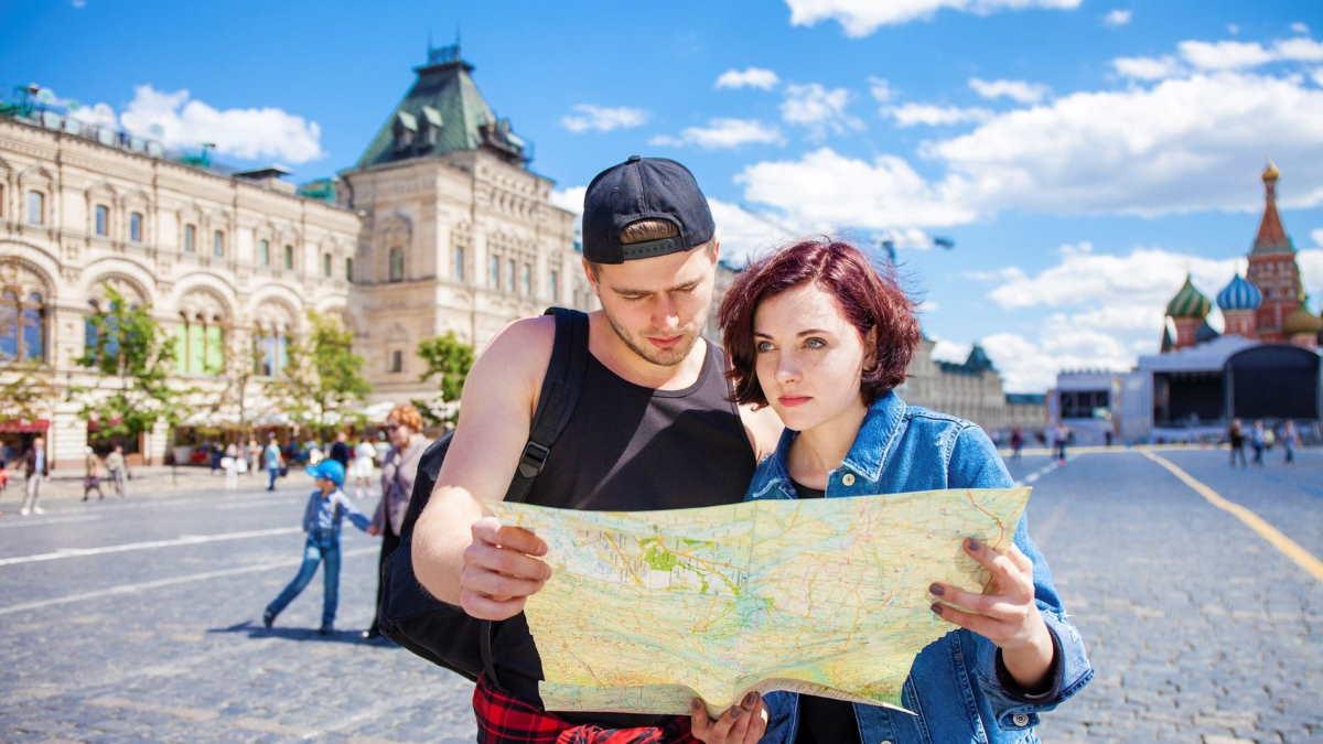 Москва туристы