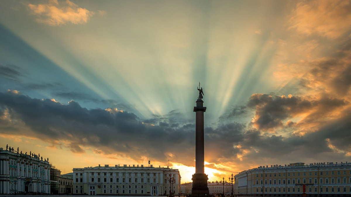 Санкт-Петербург закат тучи