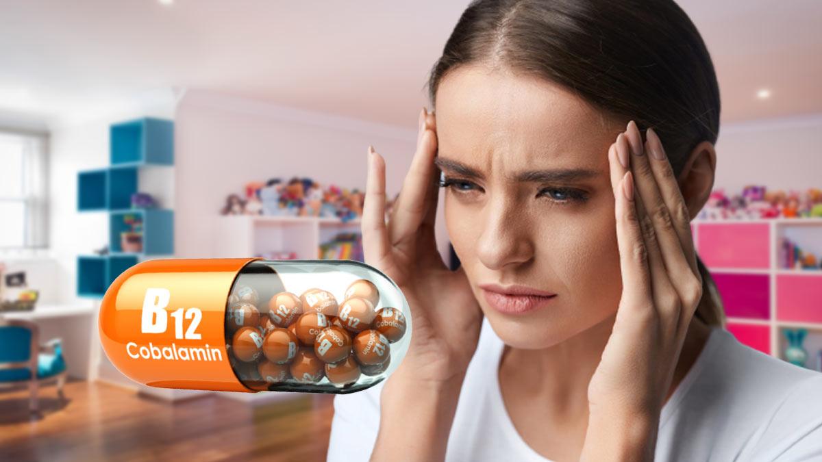 Девушка головная боль витамин B12