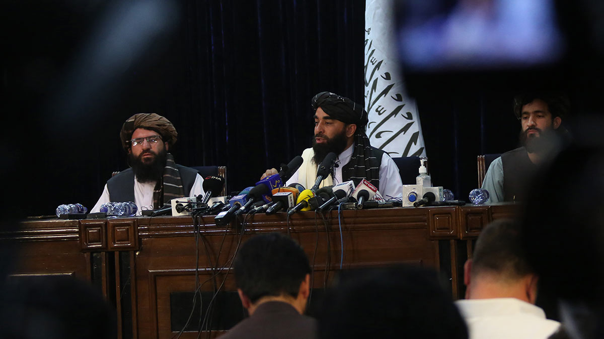Пресс-конференция талибов