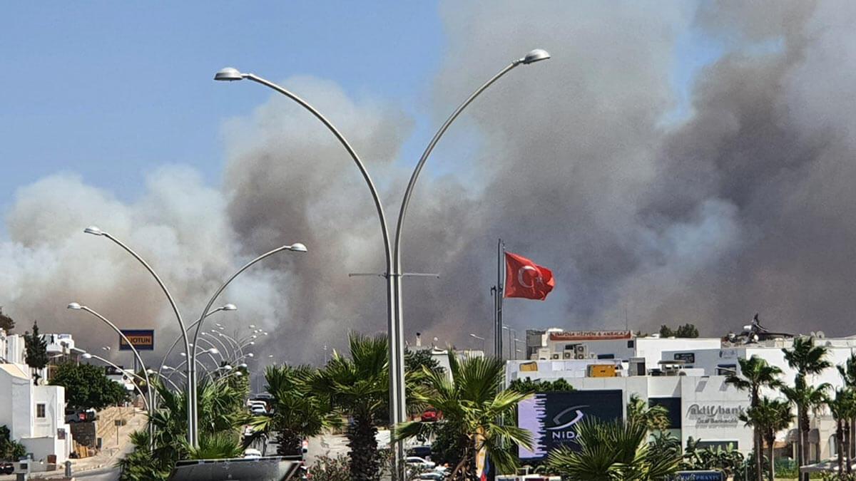 Пожар в районе Бодрума