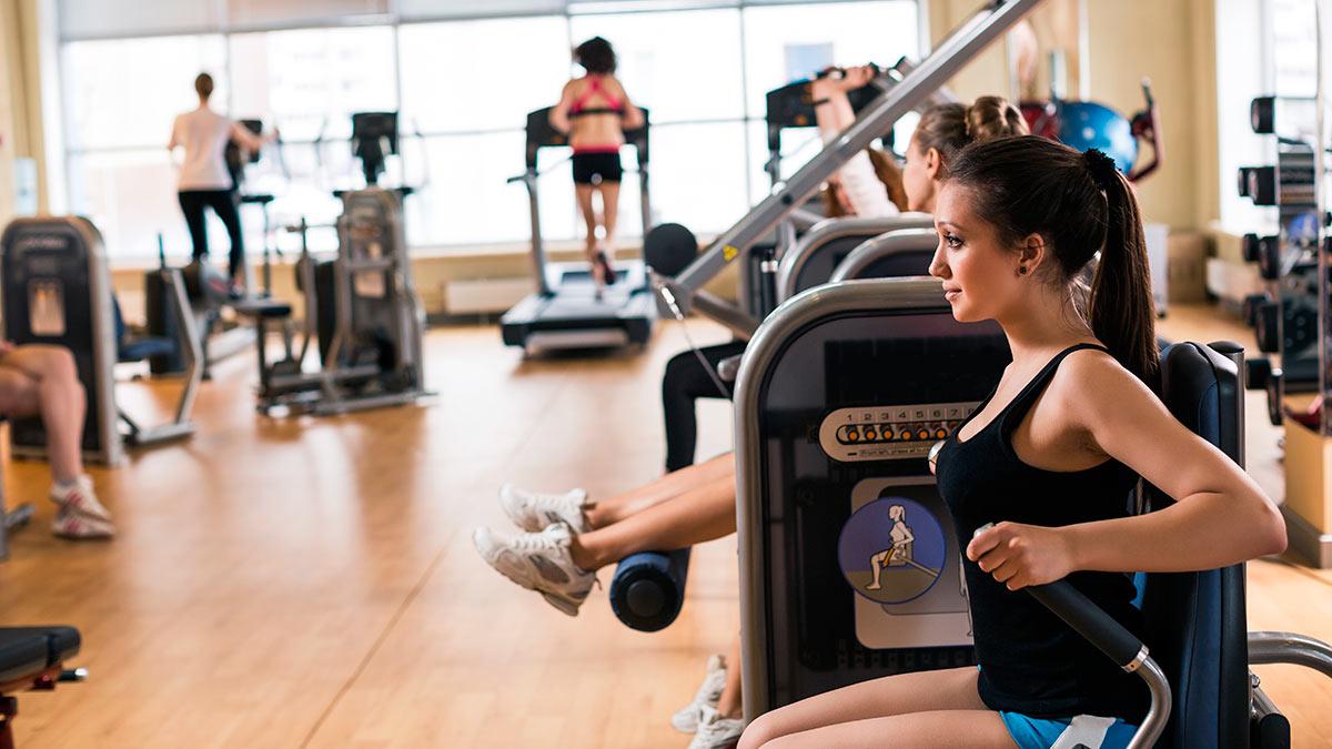 фитнес зал люди