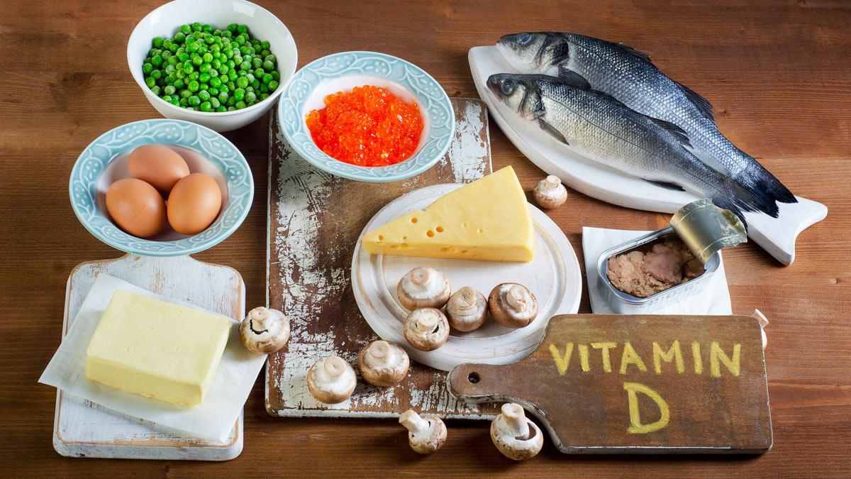 грибы яйца рыба витамин D
