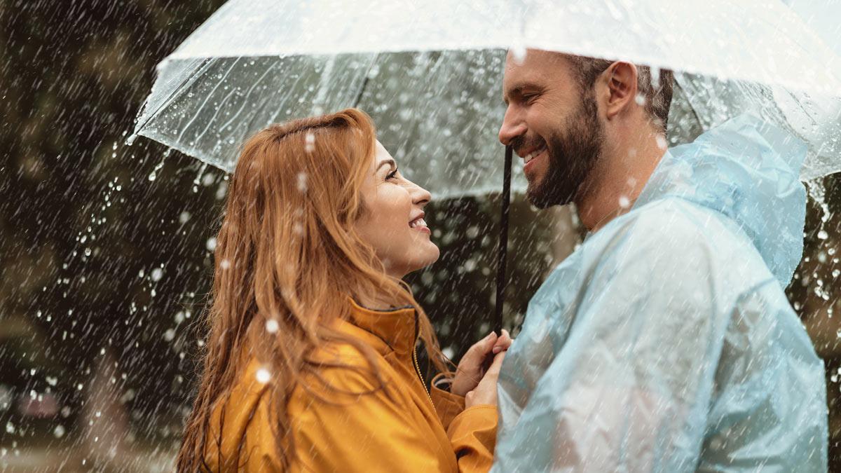 дождь зонт улыбка смех