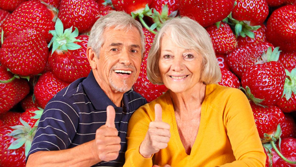 пожилые люди клубника