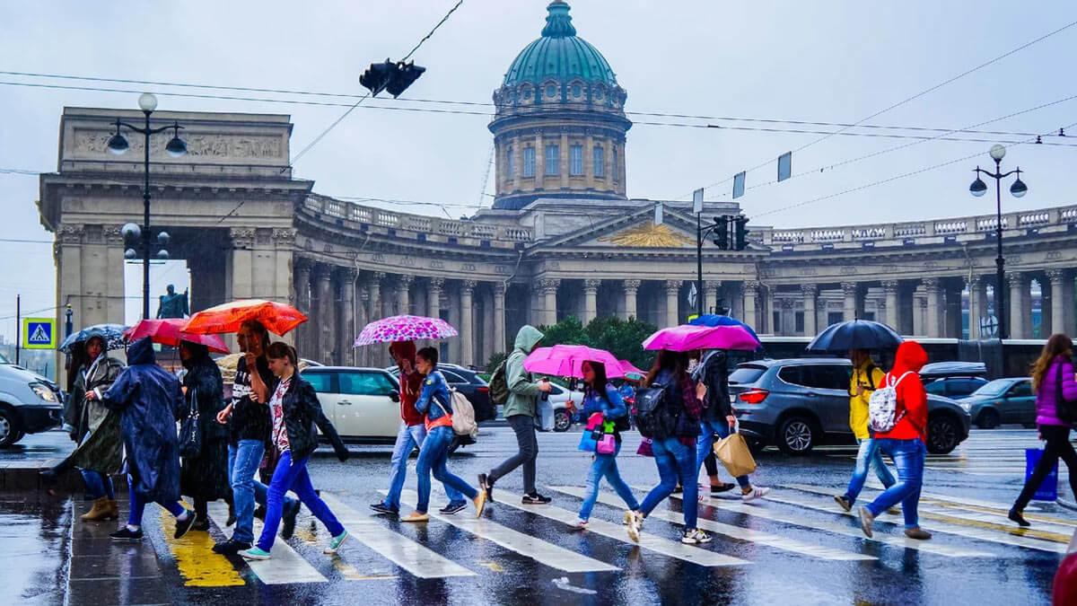 Санкт-Петербург дождь