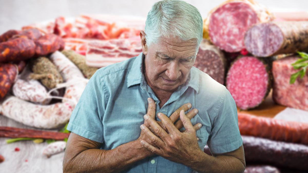 Боль в сердце и мясные изделия