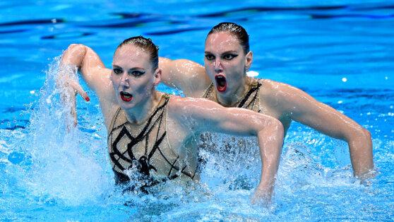 олимпиада в Токио 2020 синхронное плавание Светлана Колесниченко и Светлана Ромашина