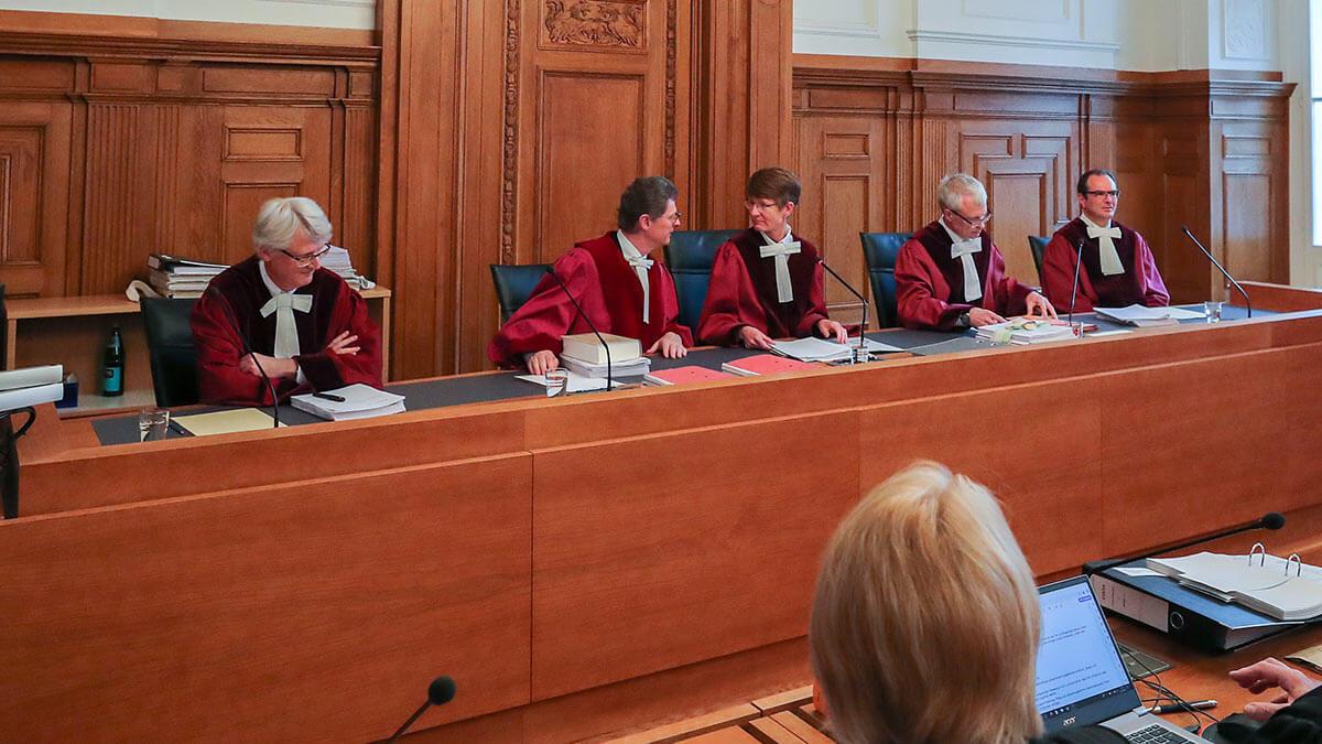работа суда в Германии