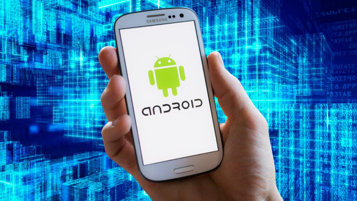 телефон андроид цифровой фон