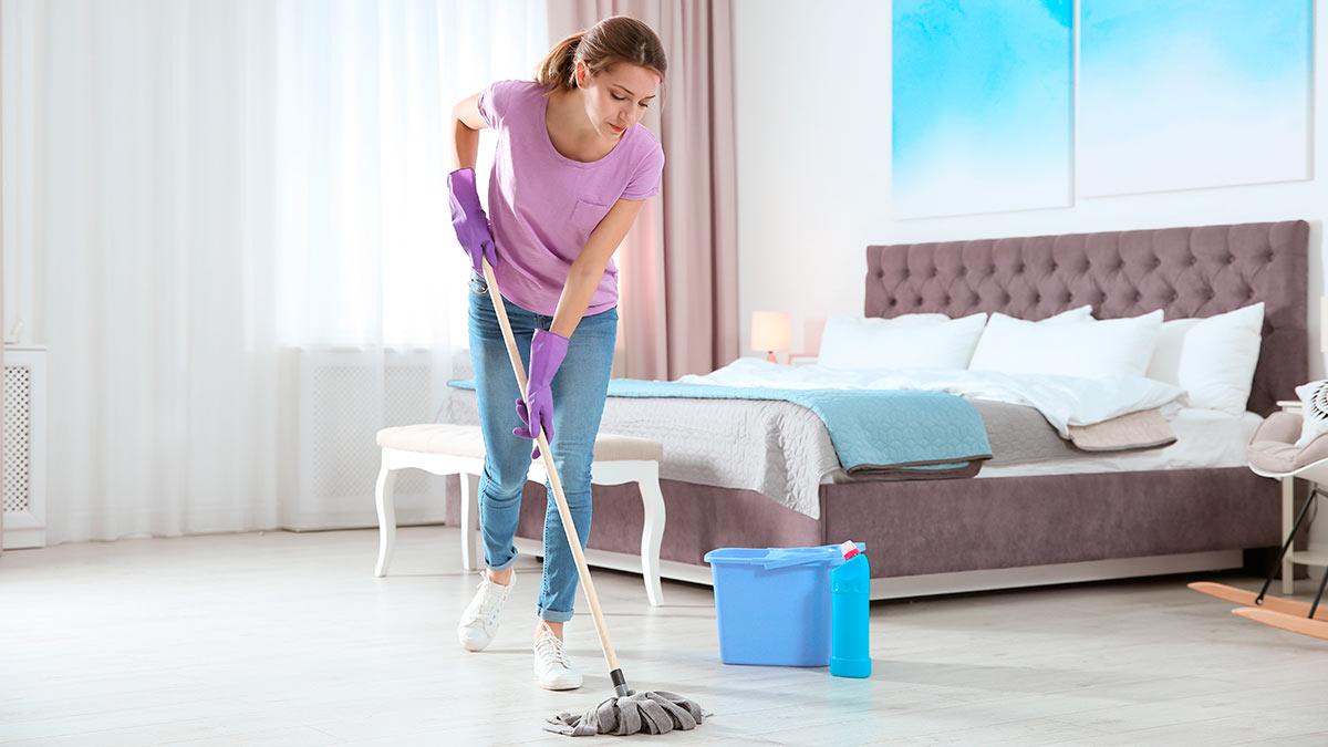 уборка спальня