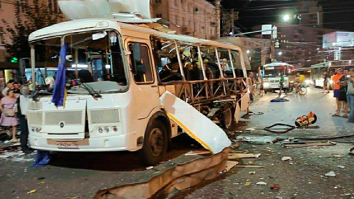 взрыв автобус