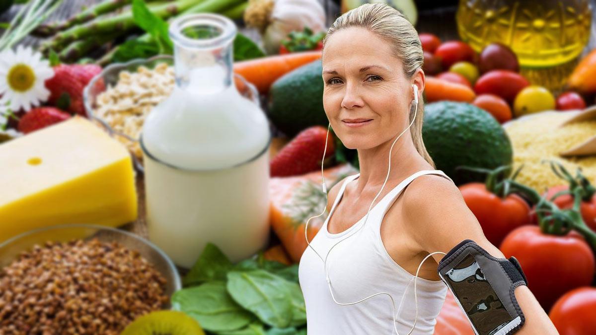 здоровая еда и занятия спортом